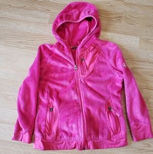 Girls Pink Snozu soft fleece Jacket size S 7/8